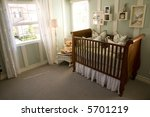 baby bedroom with crib and... | Shutterstock . vector #5701219