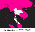 thailand map pink background 3d ... | Shutterstock . vector #570123031