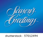 season's greetings vector... | Shutterstock .eps vector #57012494