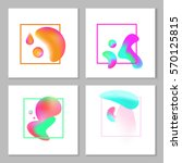 a set of abstract colorful... | Shutterstock .eps vector #570125815