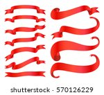 ribbon banners isolated on... | Shutterstock .eps vector #570126229