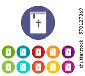 bible set icons in different...