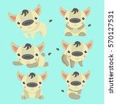 hyena cartoon set collection. | Shutterstock .eps vector #570127531