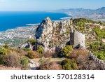 ruins of st hilarion castle.... | Shutterstock . vector #570128314