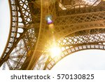 low angle view on steel...   Shutterstock . vector #570130825
