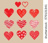 collection of  hand drawn... | Shutterstock .eps vector #570131341