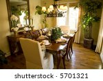 festive dining table with... | Shutterstock . vector #5701321