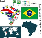 vector map of brazil with...