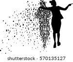 dead love concept and grieving... | Shutterstock .eps vector #570135127