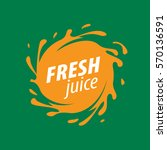 juice splash vector sign | Shutterstock .eps vector #570136591