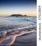table mountain at sunset | Shutterstock . vector #57013859