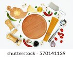 culinary layout. ingredients... | Shutterstock . vector #570141139