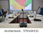 conference microphone   | Shutterstock . vector #570144151