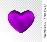 Violet Heart Isolated On...