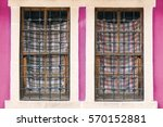 Two Old Windows With Wooden...
