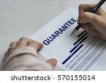 assurance guarantee standard... | Shutterstock . vector #570155014
