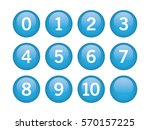 blue circle with numbers inside ... | Shutterstock .eps vector #570157225