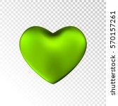 green heart isolated on... | Shutterstock .eps vector #570157261