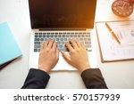 hand business women on the... | Shutterstock . vector #570157939