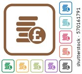Pound Coins Simple Icons In...