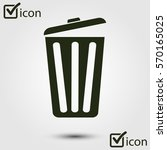 trash can icon. delete  move to ... | Shutterstock .eps vector #570165025