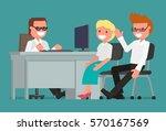 cartoon character. businessman... | Shutterstock .eps vector #570167569