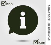 info speech bubble symbol. flat ...