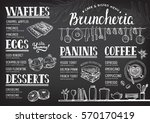food menu for restaurant and... | Shutterstock .eps vector #570170419