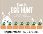 easter egg hunt poster ... | Shutterstock .eps vector #570171601