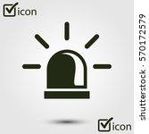 police single icon. alarm power ... | Shutterstock .eps vector #570172579