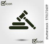 auction hammer pictogram. law... | Shutterstock .eps vector #570172609