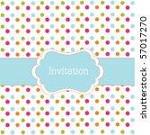 Polka Dot Design Blue Frame