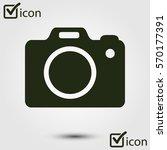 photo camera symbol. dslr... | Shutterstock .eps vector #570177391