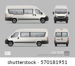 hi detailed passenger van mini... | Shutterstock .eps vector #570181951