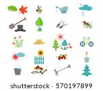 gardening icon set  garden and... | Shutterstock .eps vector #570197899