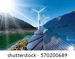 renewable energy   sunlight... | Shutterstock . vector #570200689