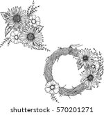 hand drawn flowers for the anti ...   Shutterstock .eps vector #570201271