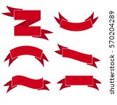 red web ribbons retro set ...   Shutterstock .eps vector #570204289