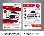 set a4 rent a car business... | Shutterstock .eps vector #570208171