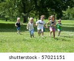 a child or children at play... | Shutterstock . vector #57021151