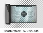 isolated futuristic tablet with ... | Shutterstock .eps vector #570223435