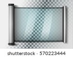 isolated futuristic tablet with ... | Shutterstock .eps vector #570223444