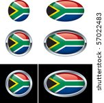 south african flag buttons   Shutterstock .eps vector #57022483