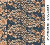 damask vintage pailsley...   Shutterstock .eps vector #570232555