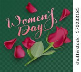 womens day text lettering and... | Shutterstock .eps vector #570233185