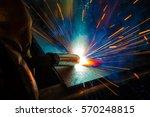 welder  craftsman  erecting... | Shutterstock . vector #570248815
