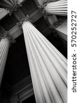 columns on museum or courthouse ... | Shutterstock . vector #570252727