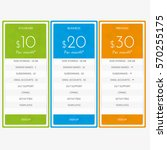 pricing plan comparison set for ... | Shutterstock .eps vector #570255175
