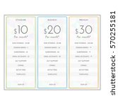 pricing plan comparison set for ... | Shutterstock .eps vector #570255181