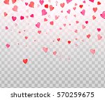 colorful watercolor  heart... | Shutterstock . vector #570259675